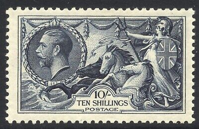 GB 1934 10/- GV Re-engraved Seahorse Large part o.g. SG 452 Cat £525