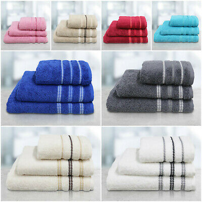 Premium Quality Egyptian Cotton Bathroom Towel Bale Set Bath Hand Face Towels