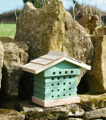 Wildlife World Wooden Bee Hyve for Mason, Leafcutter and Orchard Bees Bee Hive