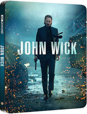 John Wick (4K UHD + Blu-ray Steelbook) NEW / SEALED - ZAVVI UK - PRE-ORDER
