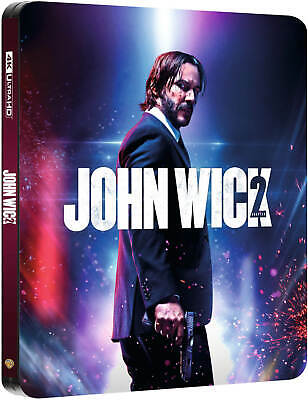 John Wick: Chapter 2 (4K UHD + Blu-ray Steelbook) NEW - ZAVVI UK