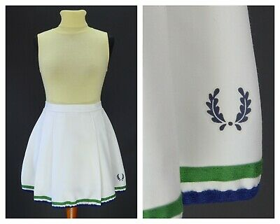 Womens Fred Perry Vintage Skirt Tennis White Size S