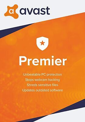 Avast Premier Anti Virus 2019 - For 1 Pc - 1 Year - Download