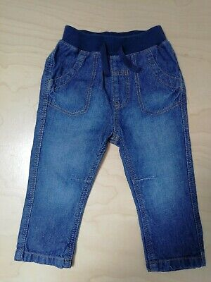 Baby boys elasticated blue jeans 6-9 months