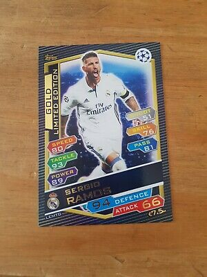 Match Attax Champions League 2016/17 Sergio Ramos Gold Limited Edition