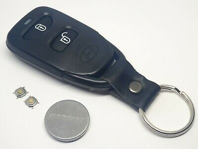 Ref42 Hyundai I10 I20 I30 2 Button Remote Key Fob Case Shell Battery Repair Kit