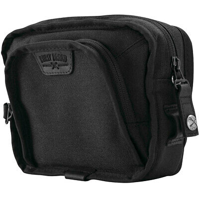 Burly Brand Black Cordura Nylon Handlebar Bag Most Harleys / T-Bar Setups