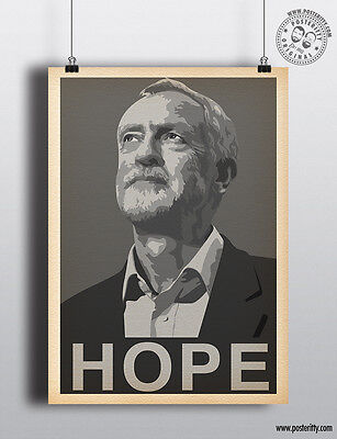 JEREMY CORBYN HOPE Vote Labour Party June Election by Posteritty A4 / A3 Poster