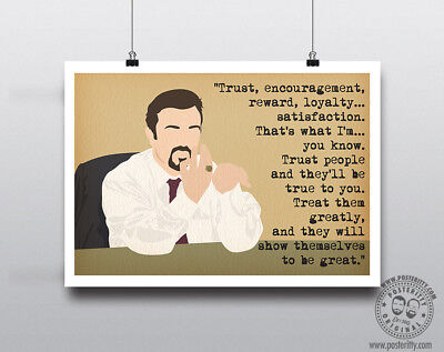 DAVID BRENT Minimal Poster Art Posteritty Office Quote Gervais Eric Workplace