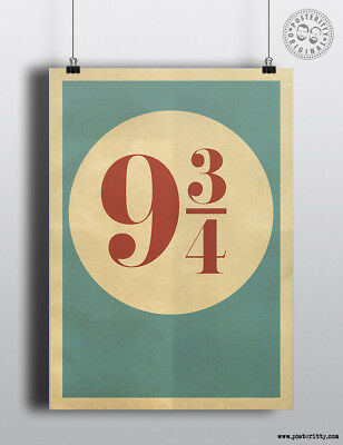 PLATFORM 9 3/4 - Minimalist Movie Poster by Posteritty Minimal Print Art Potter