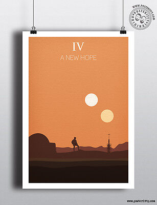 Star Wars Episode Iv A New Hope Minimalist Poster Posteritty Minimal Design 4 00 Picclick Uk