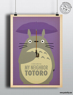 MY NEIGHBOR TOTORO - Minimalist Studio Ghibli Movie Poster Minimal Posteritty