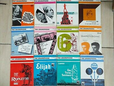 12 Issues Of The Gramaphone Magazine Complete Year Set Jan - Dec 1968