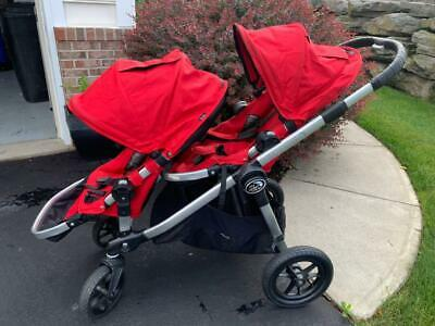 Baby Jogger City Select Double Stroller Red