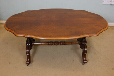 Antique Victorian Mahogany Shaped Coffee Table