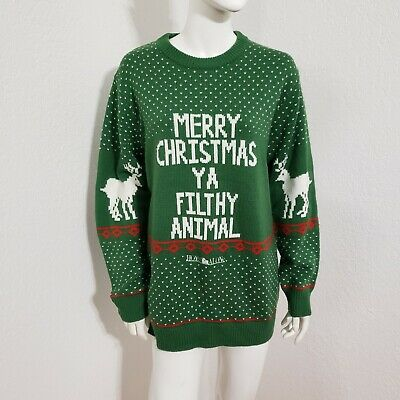 Home Alone Merry Christmas Ya Filthy Animal Ugly Xmas Sweater Knit Unisex Sz L