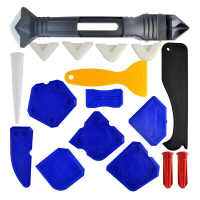 18Pcs Caulking Tool Kit 3 in 1 Caulking Tool 5 Replaceable Pads