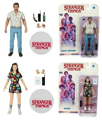 Stranger Things Season 3 Eleven & Chief Hopper Set of 2 Action Figures McFarlane