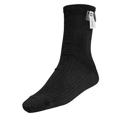 Sparco Black X-Cool Race Nomex Socks FIA Approved, Ankle Length Medium 42-43