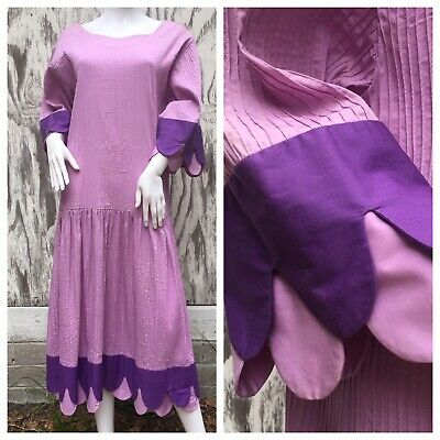 Dress Vintage Mexican Wedding TACHI CASTILLO Oversize 60s 70s Boho Folk Art
