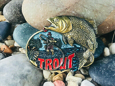 Vintage Trout Belt Buckle - The Great American Buckle Co. 1982 Made In U.S.A.