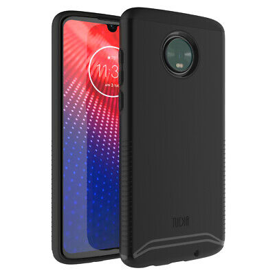 for Motorola Moto Z4, TUDIA Slim-Fit MERGE Dual Layer Protective Cover Case
