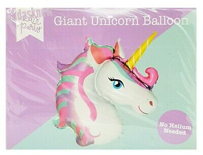 Giant Foil Unicorn Balloon Large Kids Birthday None Helium Party Decorations