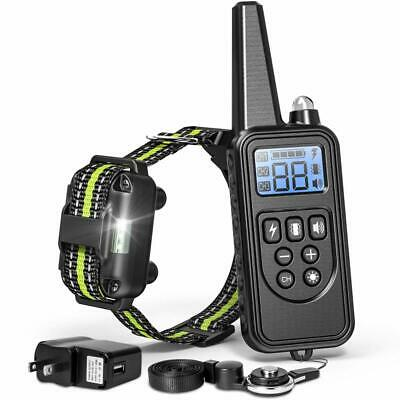 FunniPets 2600ft Remote Dog Shock Collar Rechargeable Waterproof Dog Training Co
