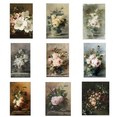 Vintage Flower Painting Canvas Art Poster Unframed Picture Home Wall Decoration