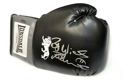 Frank Bruno Hand Signed Black Lonsdale Boxing Glove Boxing Glove