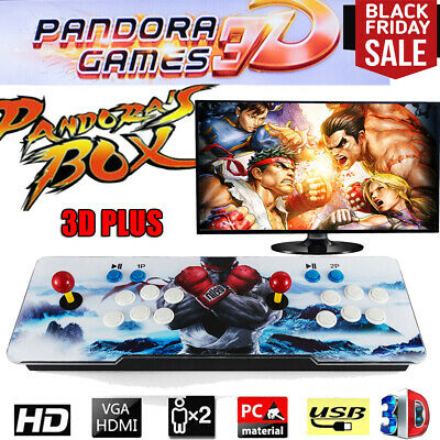 3D Pandora's Box 2200 in 1 Arcade Console 9S Video Game Double Stick Support US