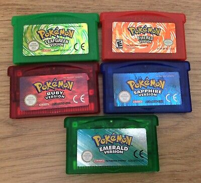 Choose your Pokemon Game Boy Advance (GBA) Game - 100% Genuine and Operational