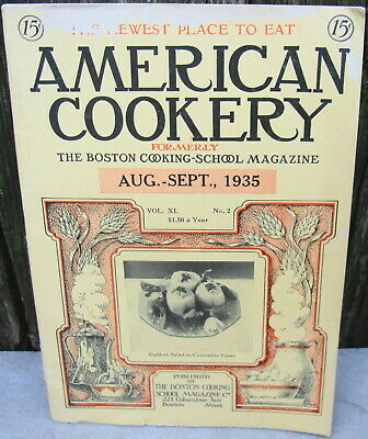 "1930s ""American Cookery"" Magazine Vintage Articles Recipes & Old Ads"