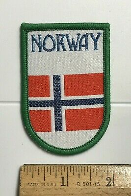 Norway Norge Norwegian Flag Souvenir Woven Patch Badge
