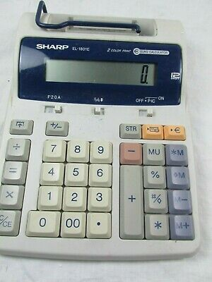 Vintage Sharp EL-1801E - 2-Colour Printing 12 Digit Tax Function Calculator