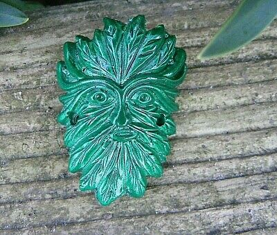 WALKING STICK BADGE THE GREEN MAN 4 cm HIGH