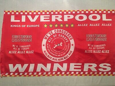 Liverpool Fc Winners Flag Champions League