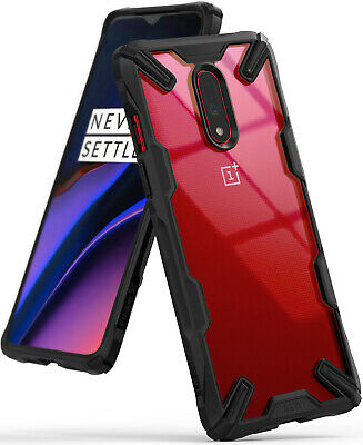 For OnePlus 7 Case | Ringke [FUSION-X] Clear PC Back Shockproof TPU Bumper Cover