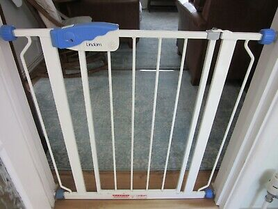 Lindam Stair Gate, pressure fit, white metal