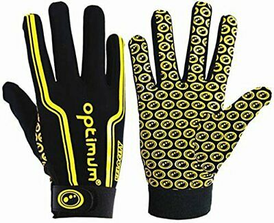 Optimum Velocity Thermal Full Finger Gloves - Size Small Boy - Black/Yellow New