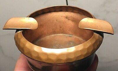 1900s copper • Laguna Beach • ashtray‼️arts crafts mission Hand-Hammered