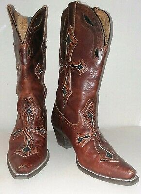 d238763f915 WOMENS ARIAT 8.5 Boots Legend Spirit Western Cowgirl Brown Leather ...
