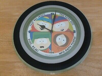 Vintage 1999 South Park Round Wall Clock. Rare!