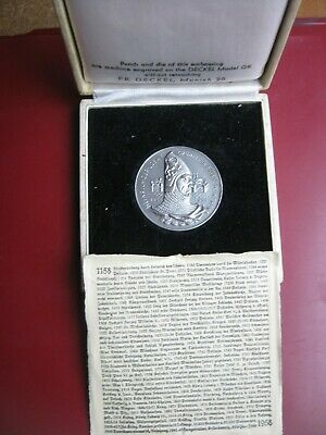 Germany 1158~1958 Munchen Munich 800th Anniversary White Metal Medal Cased Info