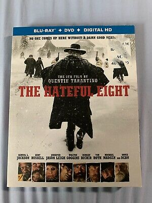 The Hateful Eight (Blu-ray/DVD, 2016, 2-Disc Set) DIGITAL NOT INCLUDED