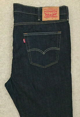 c03d215c1ad MENS LEVIS 38X32 Blue Distressed 541 Athletic Fit Red Tab Stretch ...