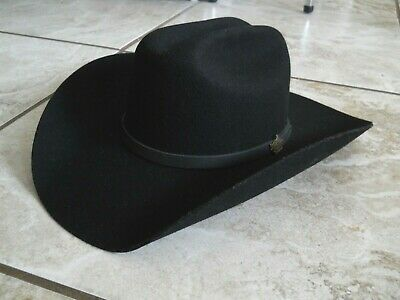 15a77cab Mens Black RESISTOL Cowboy Hat Ty Murray Rodeo PBR Bull Riding Rider 7 1/8
