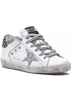 453b9e728 NEW WITH TAGS Golden Goose Superstar Sneaker, White/Zebra, Size 36