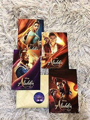Disney Aladdin 2019 Live Action Movie Collectible Character Postcard Set NEW!