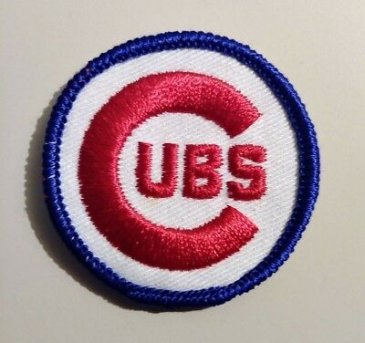 "Vintage 70's Chicago Cubs  MLB  Embroidered 2"" Patch NOS new old stock"